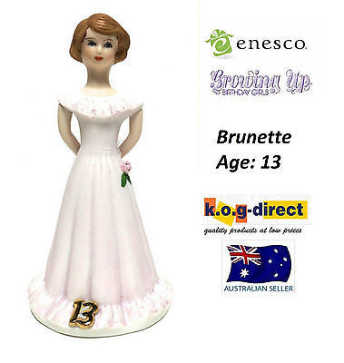 ENESCO GROWING UP GIRLS FIGURINE AGE 13 BRUNETTE BRAND NEW IN BOX