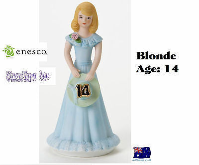 ENESCO GROWING UP GIRLS FIGURINE AGE 14 BLONDE BRAND NEW IN BOX