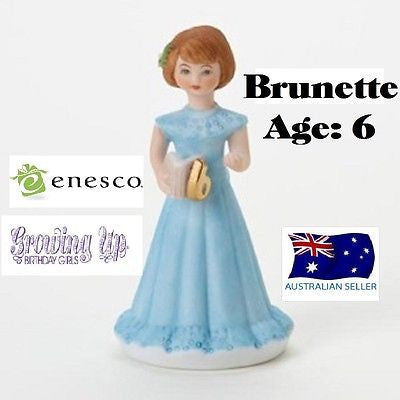 ENESCO GROWING UP GIRLS FIGURINE AGE 6 BRUNETTE BRAND NEW IN BOX