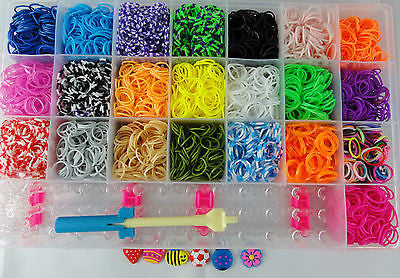 LOOM BANDS 5500 Piece Luxury Rubber Looms Kit Colourful Deluxe DIY Tool Set