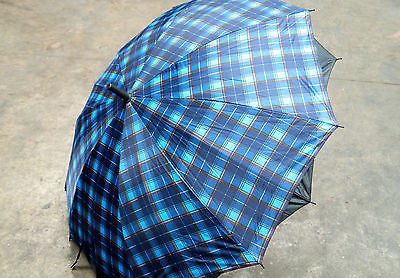 TARTAN UMBRELLA 100% UV PROTECTION WIND PROOF 100CM DIAMETER AUTOMATIC OPEN E