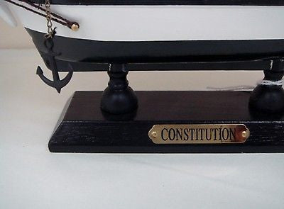 USS CONSTITUTION MODEL WOODEN SHIP REPLICA 35CM NAUTICAL COLLECTORS ITEM NEW