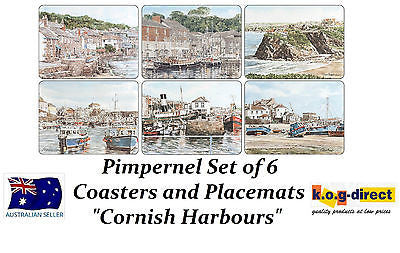 Pimpernel CORNISH HARBOURS Set Of  6 Placemats & 6 Coasters Placemat coaster