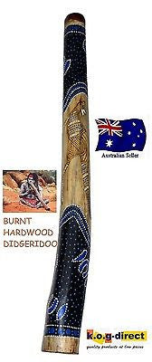 DIDGERIDOO BURNT HARDWOOD 90CM ABORIGINAL STYLE BEAUTIFULLY HAND PAINTED NEW BL