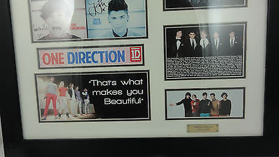ONE DIRECTION FRAMED SIGNED MEMORABILIA LIMITED EDITION WITH CERTIFICATE LG1334