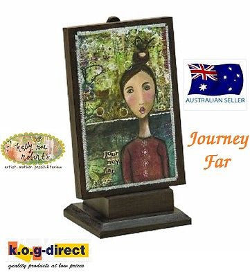 Kelly Rae Roberts Collection JOURNEY FAR PLAQUE  Demdaco NEW
