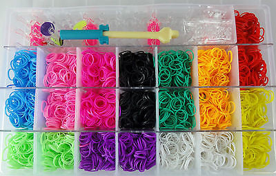 Bulk Lot 5 x 4,400 pcs NEON Loom Bands sets NEW in Retail Packaging Wholesale