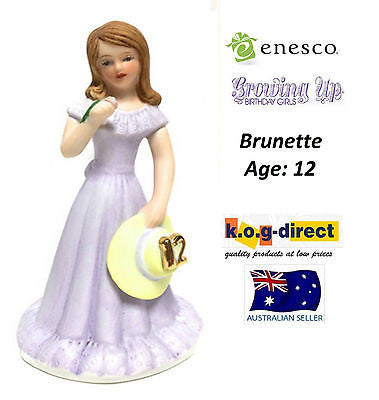 ENESCO GROWING UP GIRLS FIGURINE AGE 12 BRUNETTE BRAND NEW IN BOX