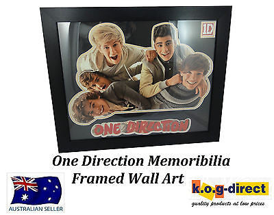 ONE DIRECTION FRAMED MEMORABILIA WALL ART - LG1395