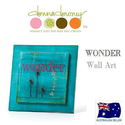 Donna Downey Collection WONDER Wall Art Demdaco NEW