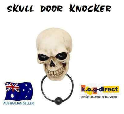 GOTHIC SKULL HEAD DOOR KNOCKER BEAUTIFULLY DETAILED  FANTASY