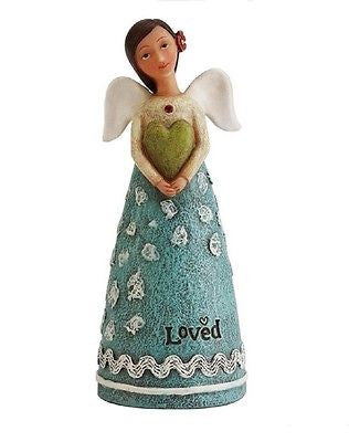 KELLY RAE ROBERTS COLLECTION BIRTHDAY WISH ANGEL FIGURINE - JULY BIRTHSTONE