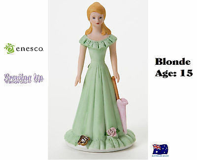 ENESCO GROWING UP GIRLS FIGURINE AGE 15 BLONDE BRAND NEW IN BOX