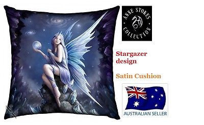 Anne Stokes Myth & Fantasy STARGAZER printed Satin Cushion NEW