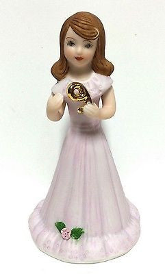 ENESCO GROWING UP GIRLS FIGURINE AGE 9 BRUNETTE BRAND NEW IN BOX