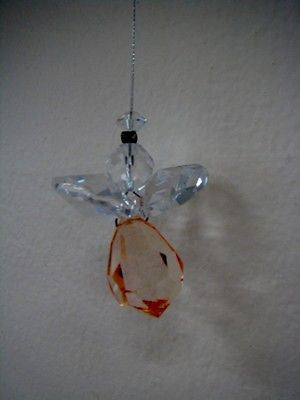 NYMBOIDA CRYSTALS HANGING 15MM CRYSTAL ANGEL VERY LIGHT ORANGE