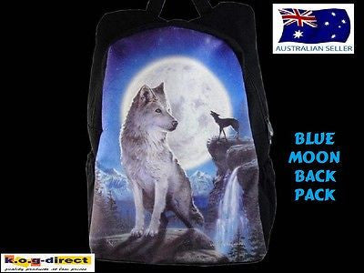 ORIGINAL DAVID PENFOUND WOLF BACKPACK BAG BLUE MOON MYTH & FANTASY BRAND NEW