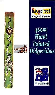DIDGERIDOO BAMBOO 40CM ABORIGINAL BEAUTIFULLY HAND PAINTED NEW GY