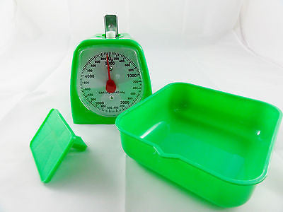 RETRO KITCHEN SCALE GREEN WITH SQUARE TRAY CAPACITY 5KG