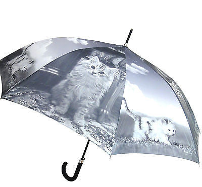 CAT AND KITTEN AUTOMATIC OPENING 100CM DIAMETER UMBRELLA HW-71F