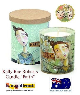 Kelly Rae Roberts Collection VANILLA SCENTED CANDLE FAITH Demdaco