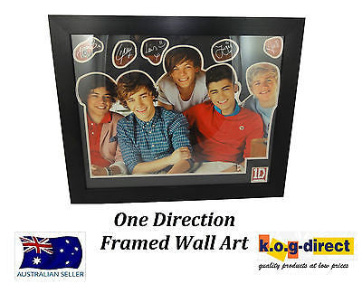ONE DIRECTION FRAMED MEMORABILIA WALL ART - LG1394