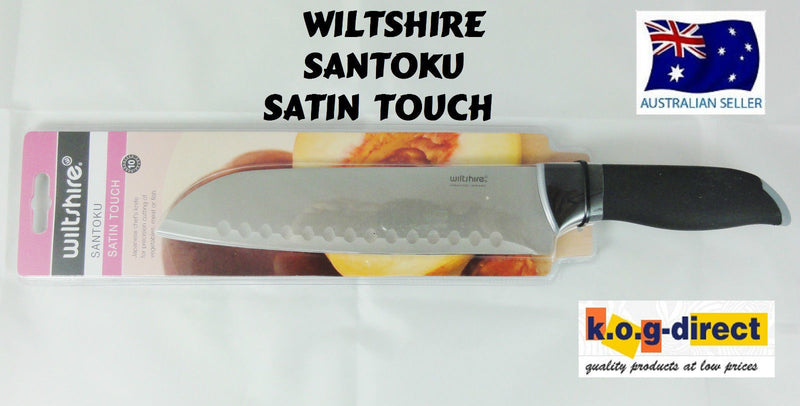 WILTSHIRE SANTOKU KNIFE SATIN TOUCH HIGH QUALITY STAINLESS STEEL
