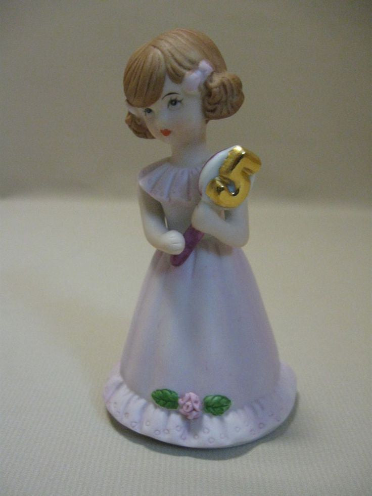ENESCO GROWING UP GIRLS FIGURINE AGE 5 BRUNETTE BRAND NEW IN BOX