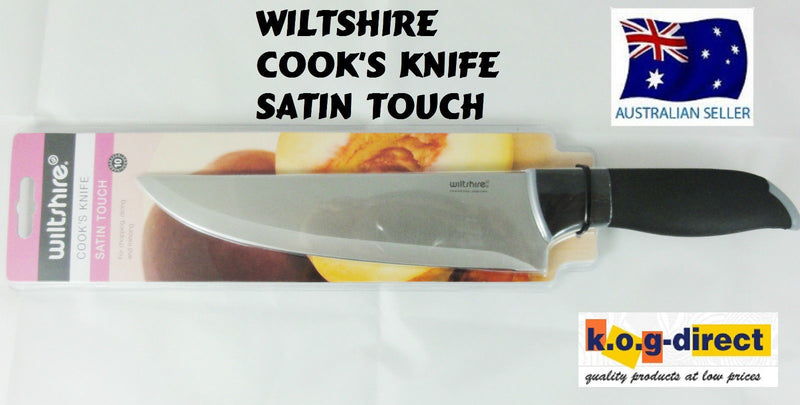 WILTSHIRE COOKS KNIFE SATIN TOUCH HIGH QUALITY STAINLESS STEEL