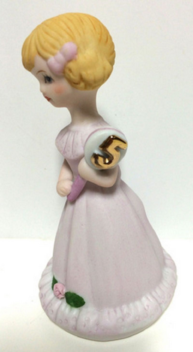 ENESCO GROWING UP GIRLS FIGURINE AGE 5 BLONDE BRAND NEW IN BOX