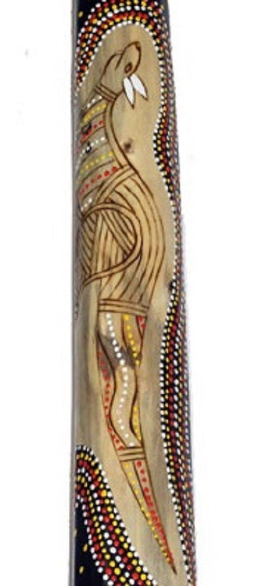 DIDGERIDOO BURNT HARDWOOD UP TO 130CM ABORIGINAL STYLE BEAUTIFULLY HAND PAINTED NEW ORG