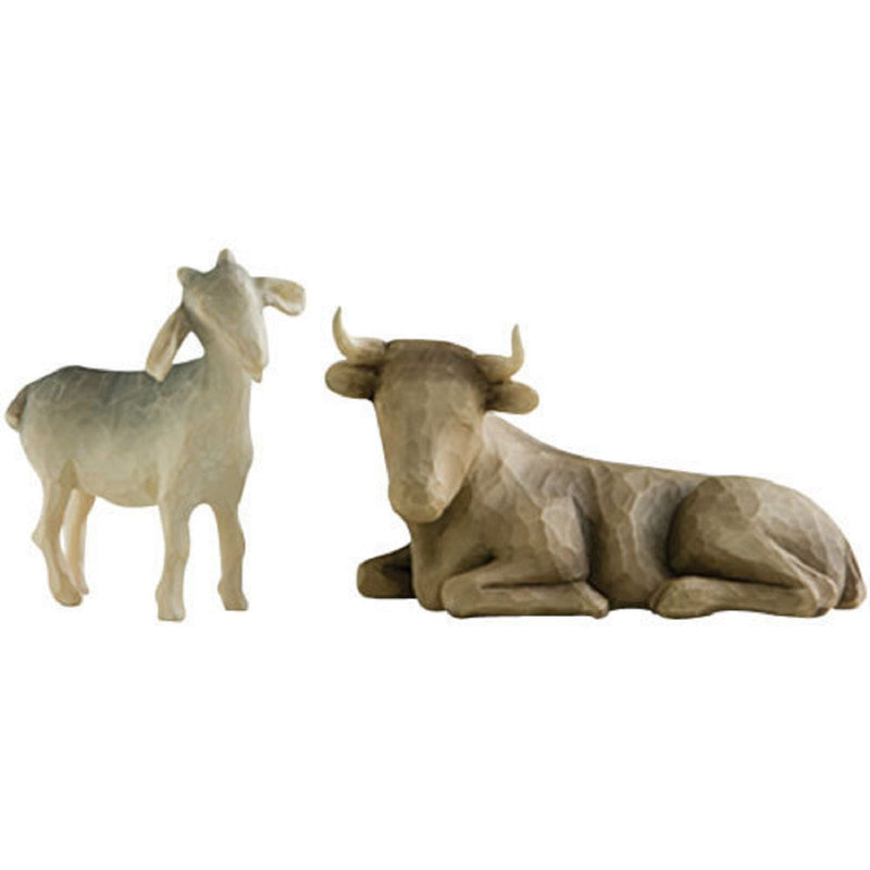 OX AND GOAT FOR NATIVITY Demdaco Willow Tree Figurine By Susan Lordi NEW IN BOX