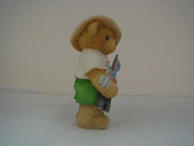 ENESCO CHERISHED TEDDIES WE'RE ALL CHEERING FOR YOU IN 2000 SIDNEY NEW IN BOX