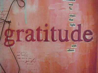 Donna Downey Collection GRATITUDE Wall Art Demdaco NEW