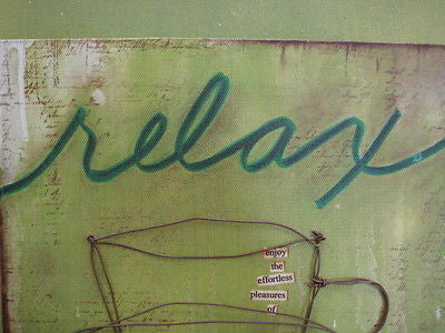 Donna Downey Collection RELAX Wall Art Demdaco NEW