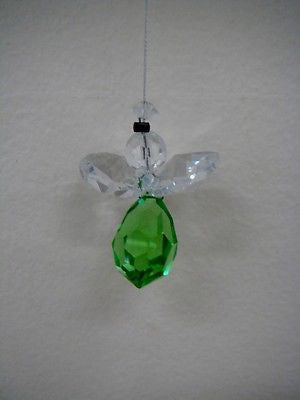 NYMBOIDA CRYSTALS HANGING 15MM CRYSTAL ANGEL DARK GREEN