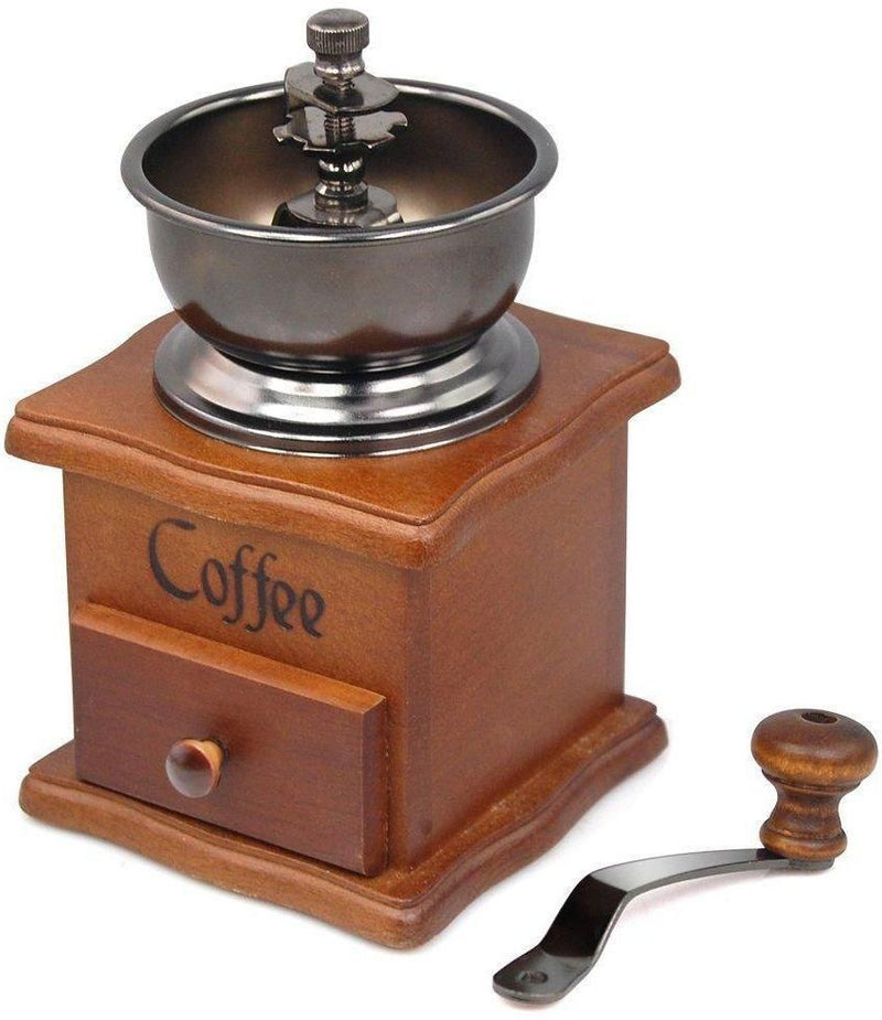Fine Kitchen Vintage Wooden Manual Coffee Bean Grinder with handle HW-677