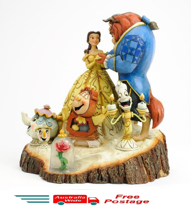 JIM SHORE DISNEY TRADITIONS BEAUTY AND THE BEAST TALE AS OLD AS TIME