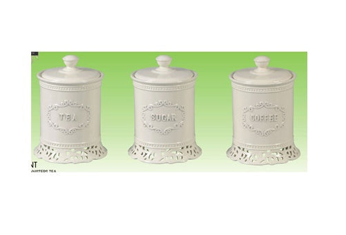 Milano Collection Set of Three Canisters Tea Coffee and Sugar Laurent RM0244