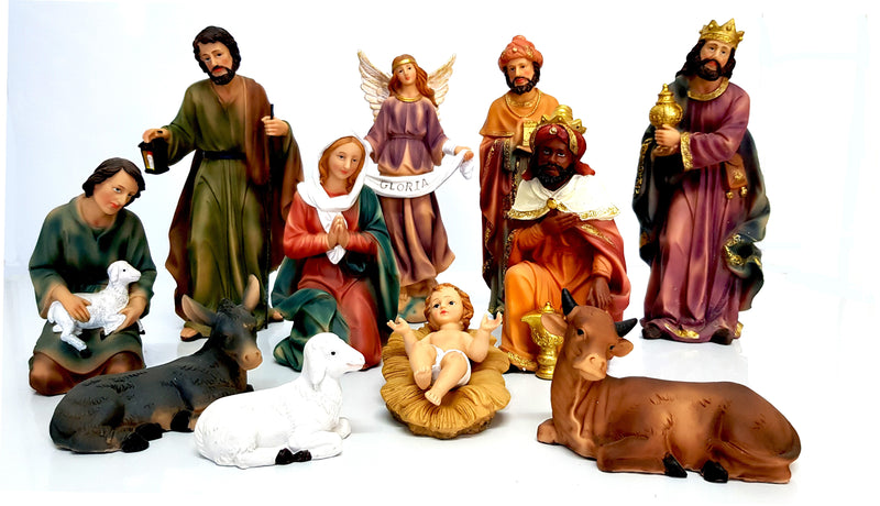11 PIECE XTRA LARGE CHRISTMAS NATIVITY SET SCENE WITH 11 FIGURES NEW HW-674B