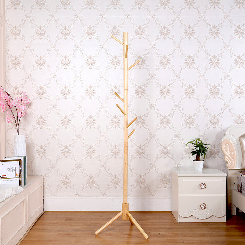 Oak Natrual Wood Vintage Coat Stand Rack Clothes Hanger Hat Jacket Bag Umbrella