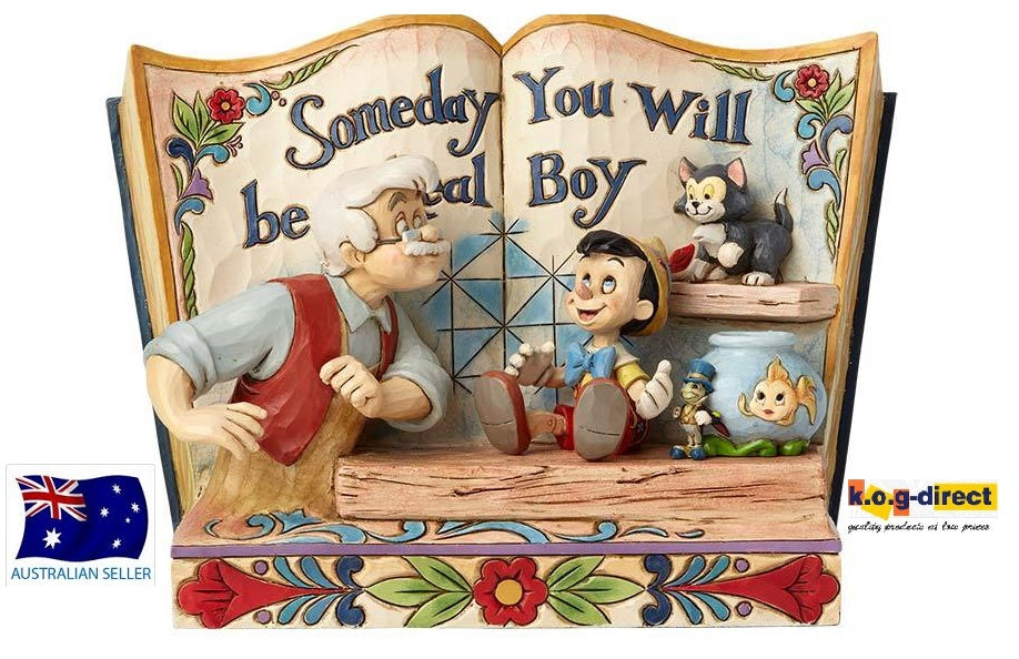 JIM SHORE PINOCCHIO SOMEDAY YOU WILL BE A REAL BOY DISNEY TRADITIONS STORYBOOK FIGURINE