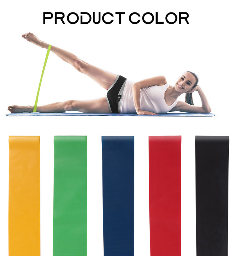 5 PCS Resistance Band Loop Yoga Pilates GYM Fitness Exercise Training WH2039