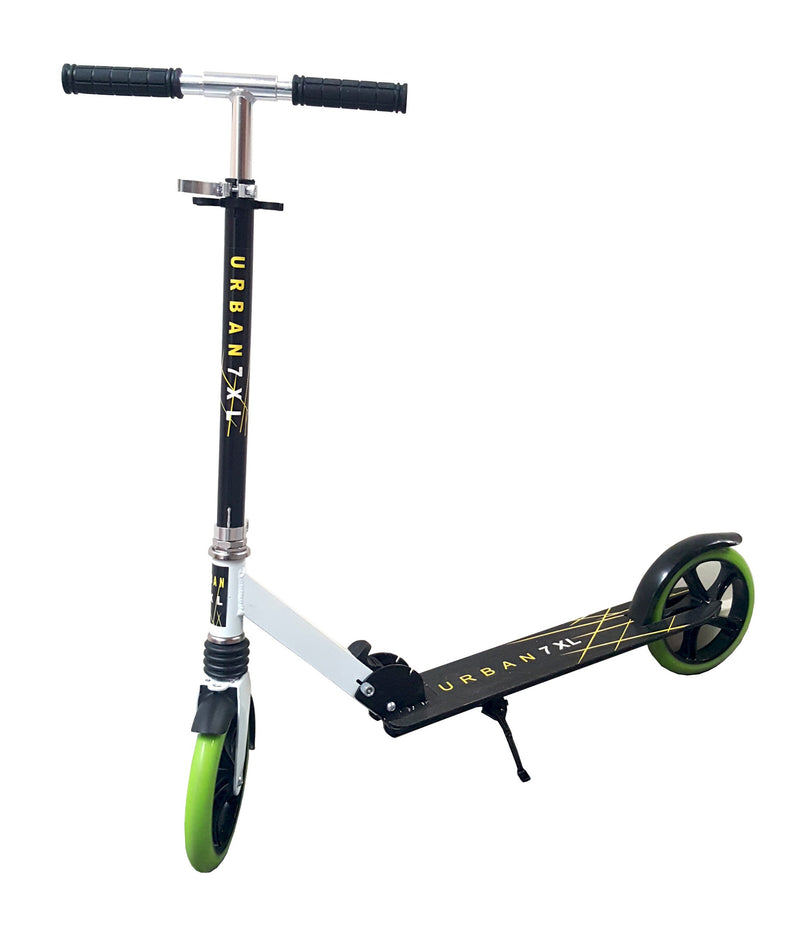 URBAN BLACK FOLDING SCOOTER ADJUSTABLE HEIGHT WITH NON SLIP BASE EASY BRAKE HW302