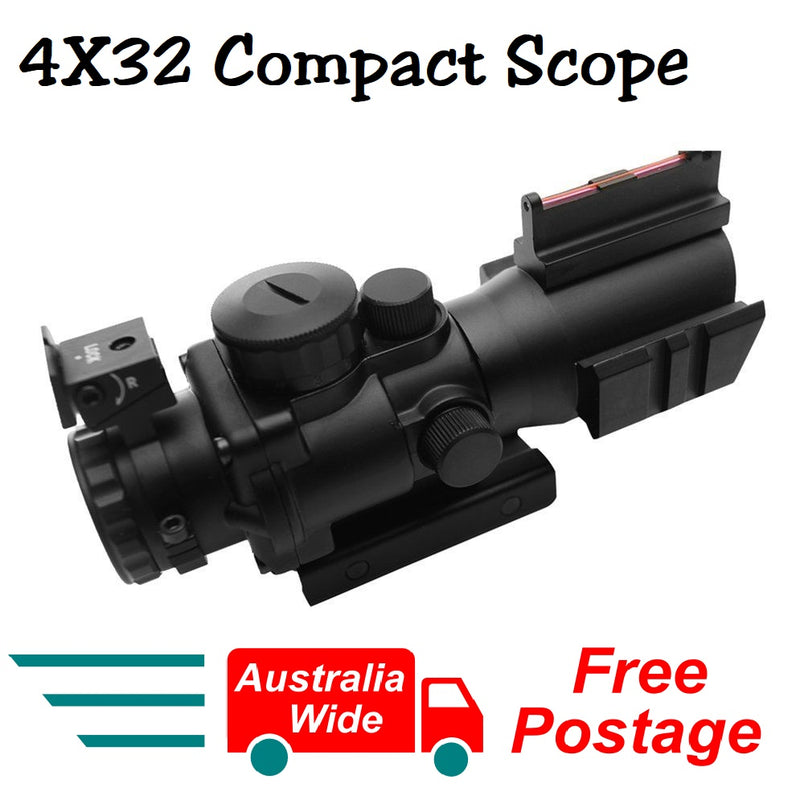 Beileshi 4X32 Telescopic Scope Sight Riflescope Optics Hunting Scope Sight Compact Scope