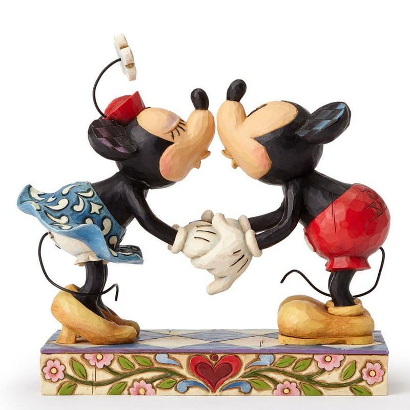 Jim Shore Mickey and Minnie Mouse Smooch For my Sweetie 4013989