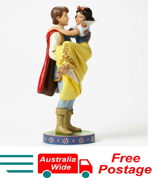 DISNEY TRADITIONS JIM SHORE SNOW WHITE W PRINCE HAPPILY EVERY AFTER FIGURINE NEW