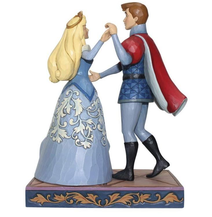 Jim Shore Disney Traditions Princess Aurora and Prince Phillip Swept Up In The Moment 4059733