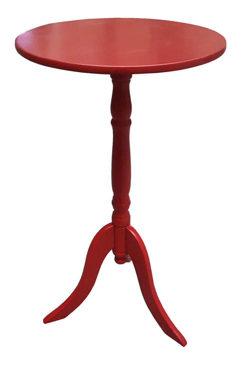 SIDE TABLE RED COFFEE TABLE BEDSIDE ROUND LAMP HOME OFFICE FURINATURE WOOD