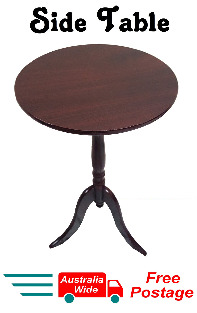 SIDE TABLE WOOD GRAIN COFFEE TABLE BEDSIDE ROUND LAMP HOME OFFICE FURINATURE WOOD